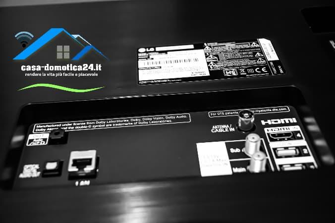 Porte HDMI e USB LG OLED65C9PLA