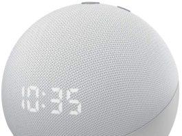 Echo Dot 4 con orologio