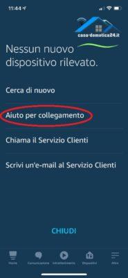 aiuto per collegamento alexa app